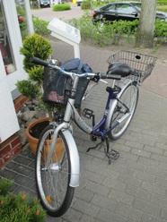 Gast Kaffeepott, Hauptfortbewegungsmittel, Zingst Fahrradfahren